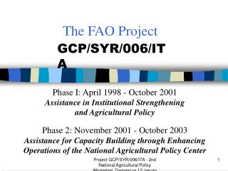 The FAO Project