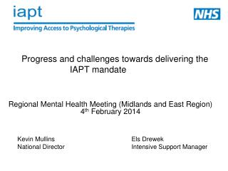 Progress and challenges towards delivering the IAPT mandate