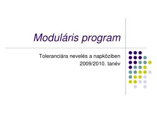 Moduláris program