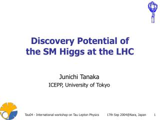 Discovery Potential of the SM Higgs at the LHC