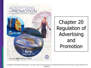 Chapter 20 Regulation of Advertising and Promotion