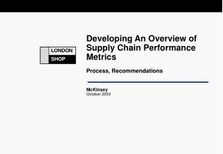 Developing An Overview of Supply Chain Performance Metrics