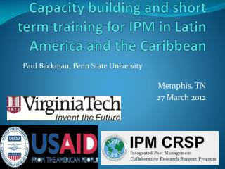 Capacity building and short term training for IPM in Latin America and the Caribbean