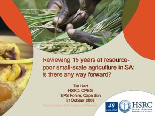 Reviewing 15 years of resource-poor small-scale agriculture in SA: is there any way forward?