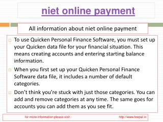 Smart and easy tips of niet online payment