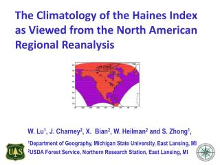 The Climatology of the Haines Index as Viewed from the North American Regional Reanalysis