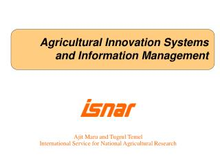 Agricultural Innovation Systems and Information Management