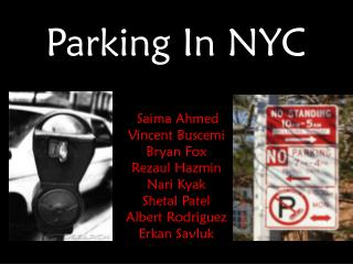 Parking In NYC