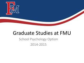 Graduate Studies at FMU