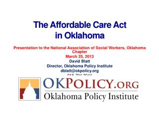 The Affordable Care Act  in Oklahoma