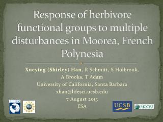 Response of herbivore functional groups to multiple disturbances in Moorea, French Polynesia