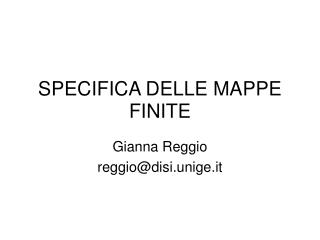 SPECIFICA DELLE MAPPE FINITE