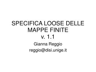 SPECIFICA LOOSE DELLE MAPPE FINITE  v. 1.1