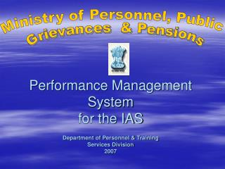 Performance Management System for the IAS