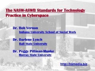 The NASW-ASWB Standards for Technology Practice in Cyberspace