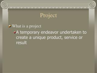 project management a project istemporaryin that 1 project management definition from wikipedia: project management is the practice of initiating, planning, executing, controlling, and closing the work of a team to achieve specific goals and meet specific success criteria at the specified time.
