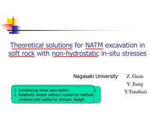 Theoretical solutions for NATM excavation in soft rock with non-hydrostatic in-situ stresses