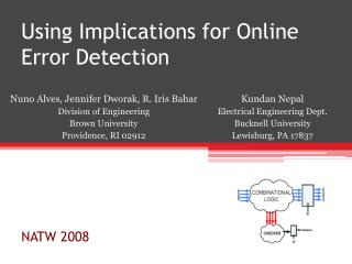 Using Implications for Online Error Detection