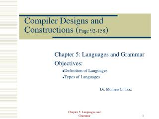 Compiler Designs and Constructions ( Page 92-158 )