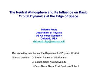 The Neutral Atmosphere and Its Influence on Basic Orbital Dynamics at the Edge of Space