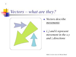 Vectors – what are they?