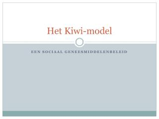 Het Kiwi-model