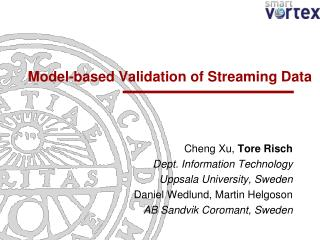 Model-based Validation of Streaming Data
