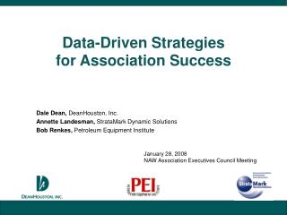 Data-Driven Strategies  for Association Success