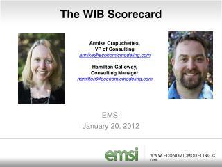 The WIB Scorecard