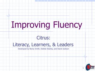 Improving Fluency