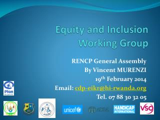 Equity and Inclusion Working Group