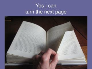 Yes I can turn the next page
