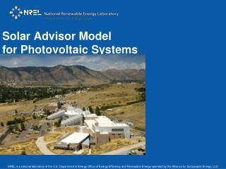 Solar Advisor Model for Photovoltaic Systems
