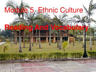 Module 5  Ethnic Culture Reading And Vocabulary