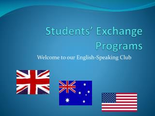 Students' Exchange Programs