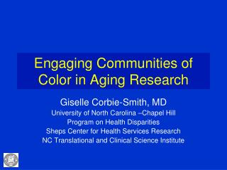 Engaging Communities of Color in Aging Research