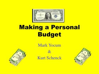Making a Personal Budget