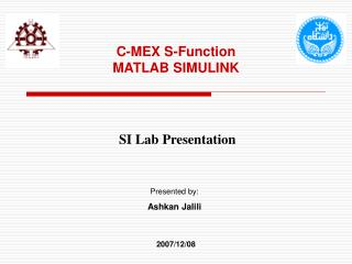 C-MEX S-Function  MATLAB SIMULINK