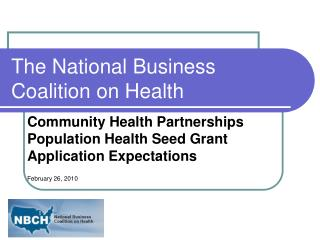 The National Business Coalition on Health