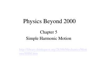 Physics Beyond 2000