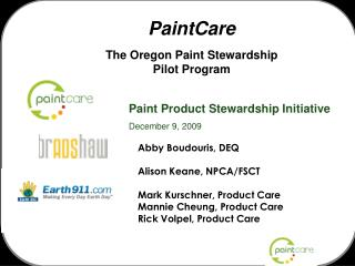 PaintCare The Oregon Paint Stewardship Pilot Program