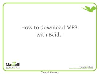 How to download MP3 with Baidu
