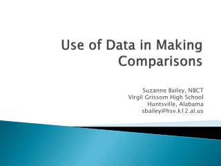 Use of Data in Making Comparisons