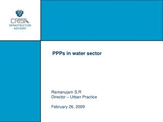 PPPs in water sector