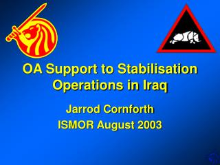 OA Support to Stabilisation Operations in Iraq