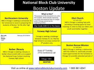 National Block Club University  Boston Update