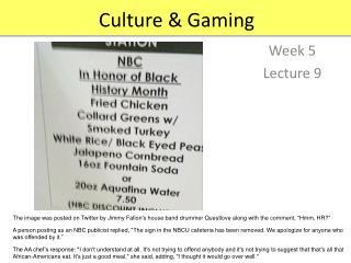 Culture & Gaming