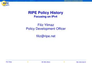 RIPE Policy History Focusing on IPv4