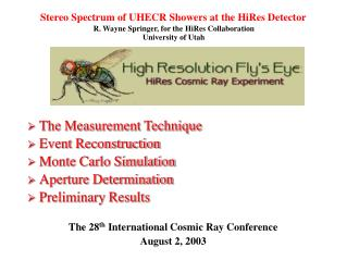 Stereo Spectrum of UHECR Showers at the HiRes Detector