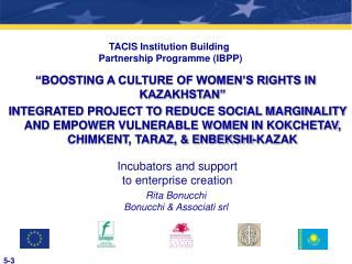 TACIS Institution Building  Partnership Programme (IBPP)